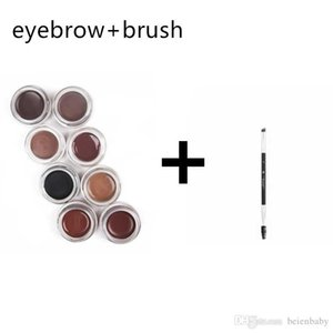 Wholesale Eyebrow Brush Pomade Enhancers Makeup 11 Colors with Retail Packing Soft Medium Dark Ash Brown Chocolate Waterproof Free Shipping