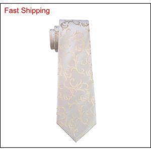 Mens Krawatte Set Gold HankerCHief Manschettenknöpfe Set für Männer Treffen Geschäfte Gelegenheitsgrad Krawatte JAC QYLBDL HOMES2007