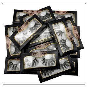 NEW Popular 25mm 6D False Eyelashes Reusable Natural Fake 3D Mink Eyelashes Eyelash Extension Handmade Soft Fake Mink Lashes Big Eyelash