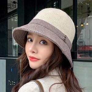Fisherman Hat Women Autumn and Winter Basin Hat Fashion All-match Ladies Warm Windproof Cap