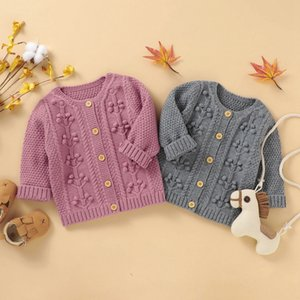 NewBorn Baby Coat Boys Girls Cardigan Autumn Spring Knitted Sweater Children Long Sleeves Sweater Outwear F1221