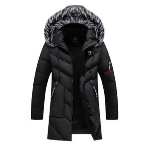 Men Winter Jackets Fur Warm Thick Cotton Multi-pocket Hooded Parkas Mens Casual Fashion Fleece Warm Coats Windbreaker Overcoat