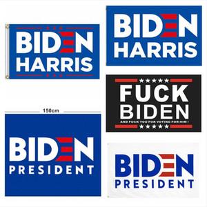Biden Bayrağı 90 * 150 cm Amerika Tutun Büyük Başkanlık Seçim Afiş Basılı Biden Harris Polyester Bayrak Banner DDA834