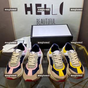 DESINGE NIÑOS Sneaker Sports Lovely Contacto Color Lace Up Zapatillas para correr para niños y niñas Zapato de alta calidad con caja vieja zapatos de papá