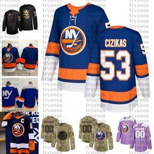 2021 Customize # 53 Casey Cizikas New York Assianers Jerseys Golden Edition Camo Ветераны День ветеранов борется с раком на заказ сшитые хоккейные изделия