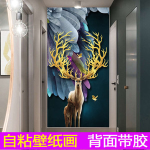 Wallpaper self sticker adhive mural 3D moose background wall
