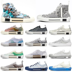 2021 B23 B22 B24 Tasarımcı Sneakers Obliques Teknik Deri Yüksek Düşük Çiçekler Platformu Açık Rahat Ayakkabılar Vintage Boyutu 36-45 # 489