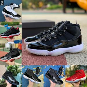 Air Jordan 11 Nike retro jordans 2021 Nouveau Jubilee Bred 11 11s Chaussures de basketball Midnight Marine Space Confiture Gamma Blue Pâques Concord 45 Low