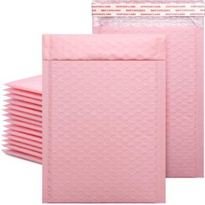 50pcs lot Bubble Envelope bag Pink Bubble PolyMailer Self Seal mailing bags Padded Envelopes For Magazine Lined Mailer