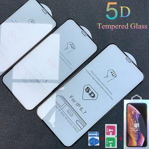 5D غطاء كامل منحني الزجاج المقسى حامي الشاشة فيلم لفون 12 برو ماكس 11 × 7 8 زائد