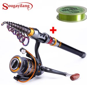 Sougayilang 1.8-3.6m Telescopic and 11BB Reel Wheel Portable Travel Spinning Fishing Rod Combo Q1203