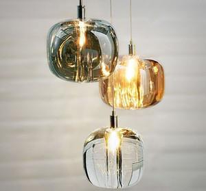 Crystal Glass Ball Pendant Lamp Ceiling Light Bar Droplight Chandelier Lighting AC110V-240V