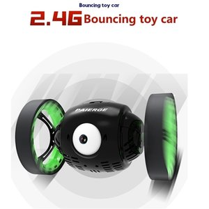 2.4G الذكية العين الكبيرة كذاب rc مذهلة القفز القدرة 360 دوران حيلة التحكم عن بعد سيارة لعبة الهدايا Z124 201211