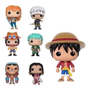 원피스 Funko 팝 Luffy Tony Tony Chopper Trafalger`Law 에이스 액션 피규어 PVC 애니메이션 장난감 일본어 만화 인형 장난감 수집 10cm