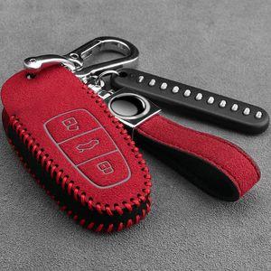 Audi için yeni A6L anahtar kapak kadınlar için 19 modeller A8L Araba Anahtarlık Süet Çanta
