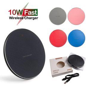 Cargador inalámbrico rápido 10W para iPhone 12 11 PRO XS MAX X XR QI Pad de carga inalámbrica para Samsung