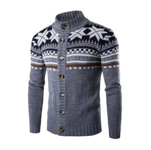 Fashion-Knit cardigan single-breasted bottom knit cardigan jacket men's autumn and winter sweater sweater sweater Europe and America