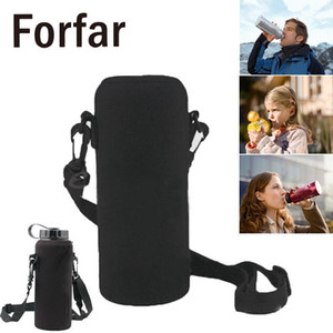 600ML Water Bottle Cover Bag Pouch w Strap Neoprene Water Sport Bottle Carrier Insulated Bag Pouch Holder Shoulder Strap Black1