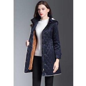 Neue klassische Frauen Mode England Middle Long Baumwolle Gepolsterte Mantel UK Winter Zweireiher Jacke für Frauen Größe S-XXL