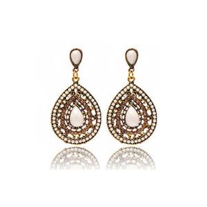 Boho Style Waterdrop Stud Earring Women Rhinestone Beach Dangle Earring Jewelry Accessories with Fast Free Shipping