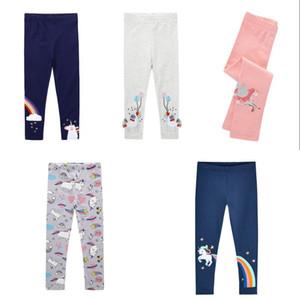 Kids Unicorn Pencil Pants Spring Autumn Boys Girls Skinny Legging Cartoon Print Embroidery Tassels Children Long Trouser Rainbow 15ju G2