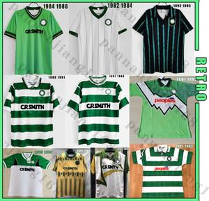 Celtic 82 84 86 87 88 89 92 93 94 01 02 Retro Soccer-Trikots # 7 Larsson Nakamura Burley Nakamura Keaneka Vintage Football Hemden