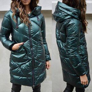 Parka Zipper Womens Winter Coats Long Cotton Casual Fur Hooded Jackets pockets Thick Warm Parkas Female Overcoat long Coat
