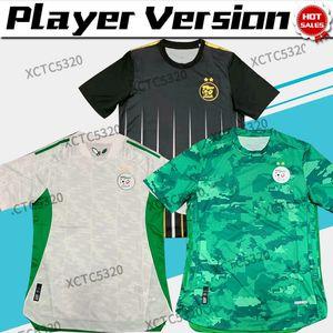 Versione del giocatore di alta qualità 2021 Algeria 2 Satrs Soccer Jersey Mahrez Slimani Home White Away Green Nation Football Team in magazzino