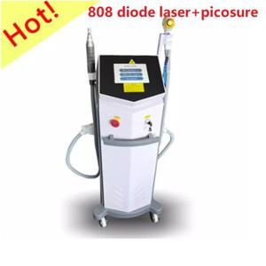 Prezzo di fabbrica 808nm diodo Laser + Pico Sure Laser 2 in 1 Ndyag Laser Machine Black Carbon Doll Doll Pelle Peeling Depilazione e rimozione dei capelli Tatuaggio