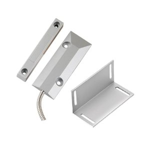 Metal Wired Roller Shutter Door Magnetic Contact Reed Switch with installation Bracket for Security alarm system