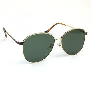 Drdar New 2020 Women's Men Unisex Sunglasses 5102 Metal Oval Large Frame Dark Green Lenses Glasses Anti-uv400