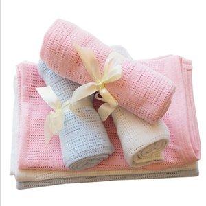 Baby Cobertor Malha Recém-nascido Swaddle Wrap Cobertores Super Macio Criança Criança Bedding Bedding para cama Sofá Cesta Coberturas Coberturas