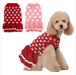 Pet Dog Clothes Xmas Knitwear Dog Sweater Winter Soft Thickening Warm Pup Dogs Shirt Fashion Focus On Puppy Sweater For Dogs DHB3572