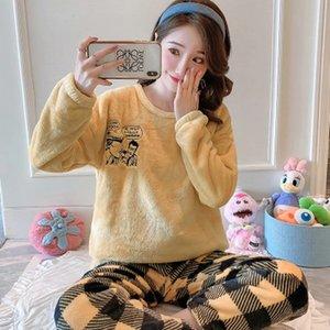 Pijama Invierno Clido Mujer, ROPA Dormir de Franela, Para Casa, 2020