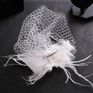 Peaf Cap Lady Cocktail Dunning Party Fedoras Свадебный свадьба Bridal Bowknot Mesh Vuil Hats Vintage Sombreros Chapeau Thscwarts LM059 H SQCWWX