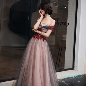 Burgundy Chinese Oriental Wedding Female Noble Cheongsam Off Shoulder Evening Dress Elegant Modern Celebrity Banquet Dresses
