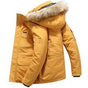 Brand Parka Mens Winter Jackets Casual Warm Thick Hooded Fur Collar Coats Puffer Jacket Men Men Windproof Overcoat Plus Size 6XL