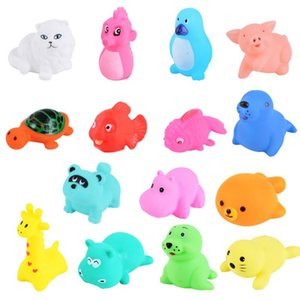 Baby Bath Toy Soft Rubber Duck Squeeze Sound Floating Animal Bathroom Swimming Children's Water Toy Boy Girl