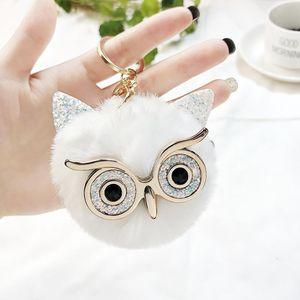 New Mini Plush Real Owl Fur Ball Keychain Soft Toys Cute Fashion Kids Plush Dolls Pompom Fluffy Charm Baby For Girls Women wmtabI