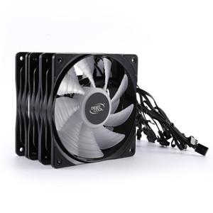 3pcs PWM 4 Pin 120mm Computer Case Fan Silent 12CM Fan CPU Cooling RGB Quiet PC Cooler Case Fans 12V DC Adjust Speed