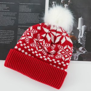 Christmas 2020 Knitted Winter Hat for Women, Stretch Hat for Women and Girls, with Tag, Messy Bun, , Warm