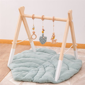 Toddler Kids Crawling Blanket Round Carpet Rug Toys Cotton Children Room Decor Photo Props Cartoon Animals Baby Play Mat Pad Q1121