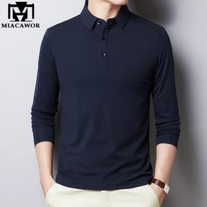 2020 New Polo Shirt Men Cotton Long sleeve Polo Shirts Male Classic Solid Colors Slim Fit Tee shirt Homme Men Clothing T894 Y1113