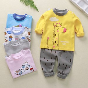 Children Underwear Set Pure Cotton New Style Boys And Girls Winter Pajamas Baby Autumn Clothes Pants Home Clothing lababy20