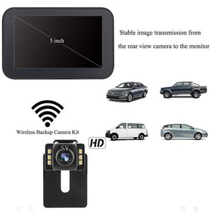 Car driver camera Wireless reversing rear view camera display 5 inch magnetic bracket wireless display HD waterproof