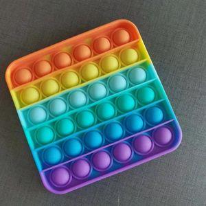 Empurre Pop Fidget Brinquedo Bubble Sensory Autism Precisa de Stress Reliever Esprema o brinquedo sensorial para a família de crianças
