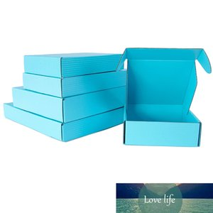 5Pcs 10Pcs Foldable Blue Kraft Paper DIY Folding Papercard Carton Small Craft Electronic Accessories DIY Gift Boxes for New Year