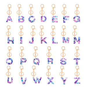 26 Letters Cute Key Chain Colorful Lanyard Charms Keys Holder Buckle Keyring Wallet Car Accessories Fashion 3 2yw C2