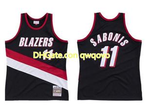 Erkek Basketbol PortlandİzBlazers 11 ArvydasSabonis Mitchell Ness 1999-00 HardwoodsKlasikler Otantik Jersey