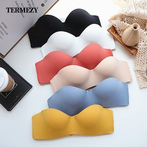 TERMEZY Super soft Bras for Women Push Up Lingerie Seamless Bra Wire Free Bralette Sexy Gathering Invisible Underwear Intimates Y1119